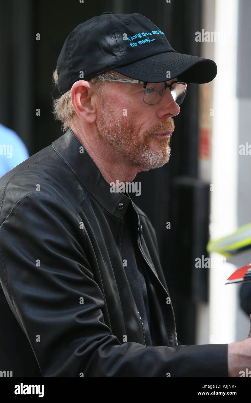 Film Director Ron Howard promoting the new Star Wars Solo at BBC Radio Two Studios - London  Featuring: Ron Howard Where: London, United Kingdom When: 18 May 2018 Credit: WENN.com - Stock Image