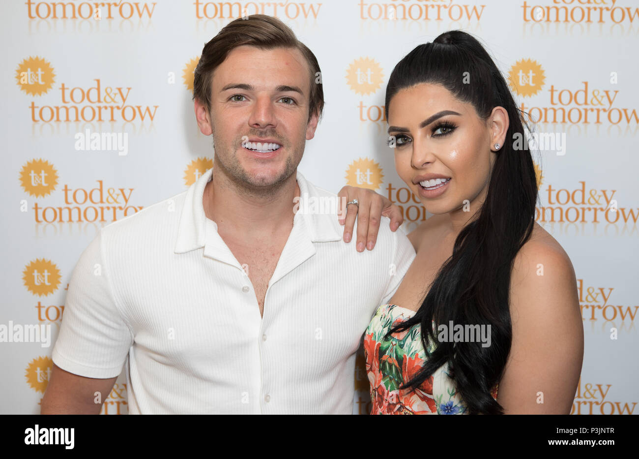 Cara de la Hoyde collects award from Charity 'Today and Tomorrow' for Inspirational Mother of the Year. Nathan Massey attended the event to support her  Featuring: Nathan Massey, Cara de la Hoyde Where: London, United Kingdom When: 18 May 2018 Credit: Phil Lewis/WENN.com - Stock Image
