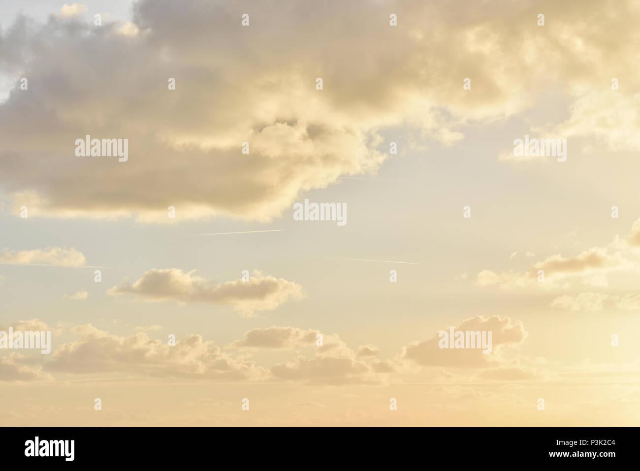Sunset, Cilento, Italy - Stock Image