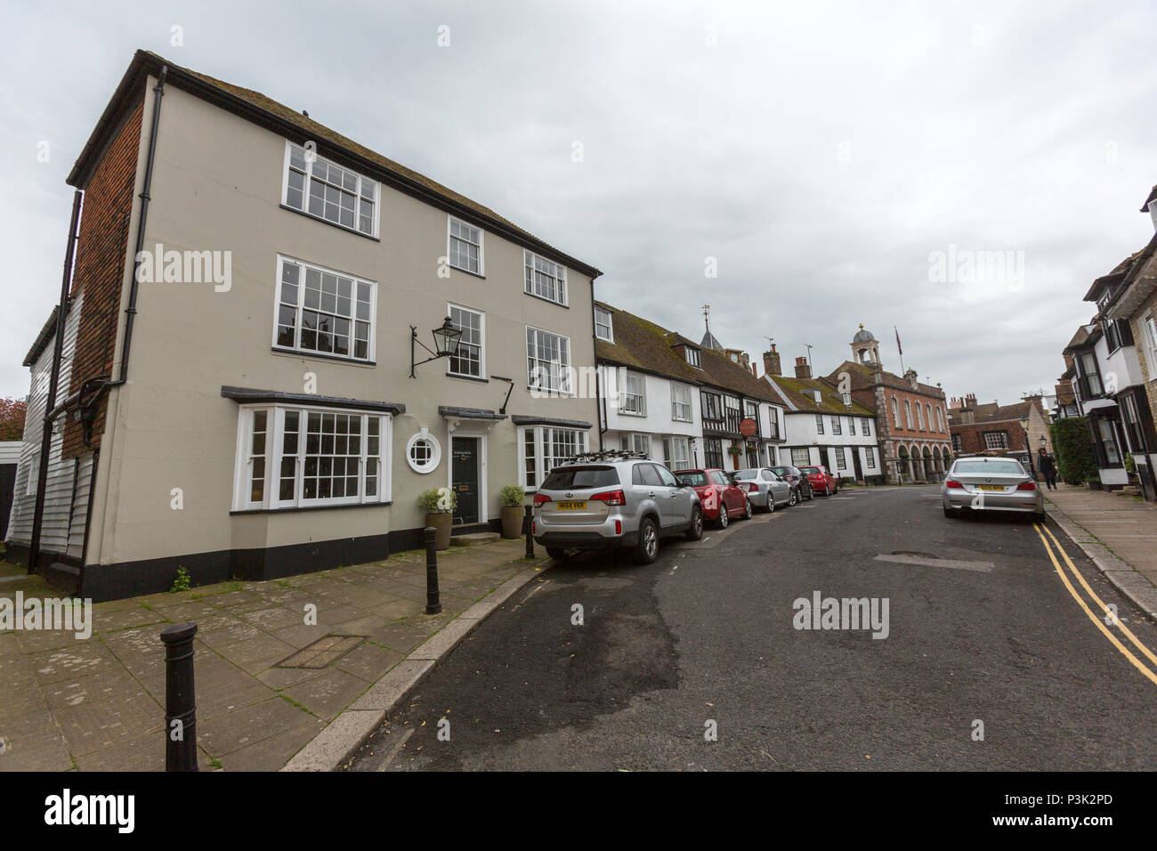 Rye Town Council from Market street in Rye,  Market St, East Sussex, England, UK - Stock Image