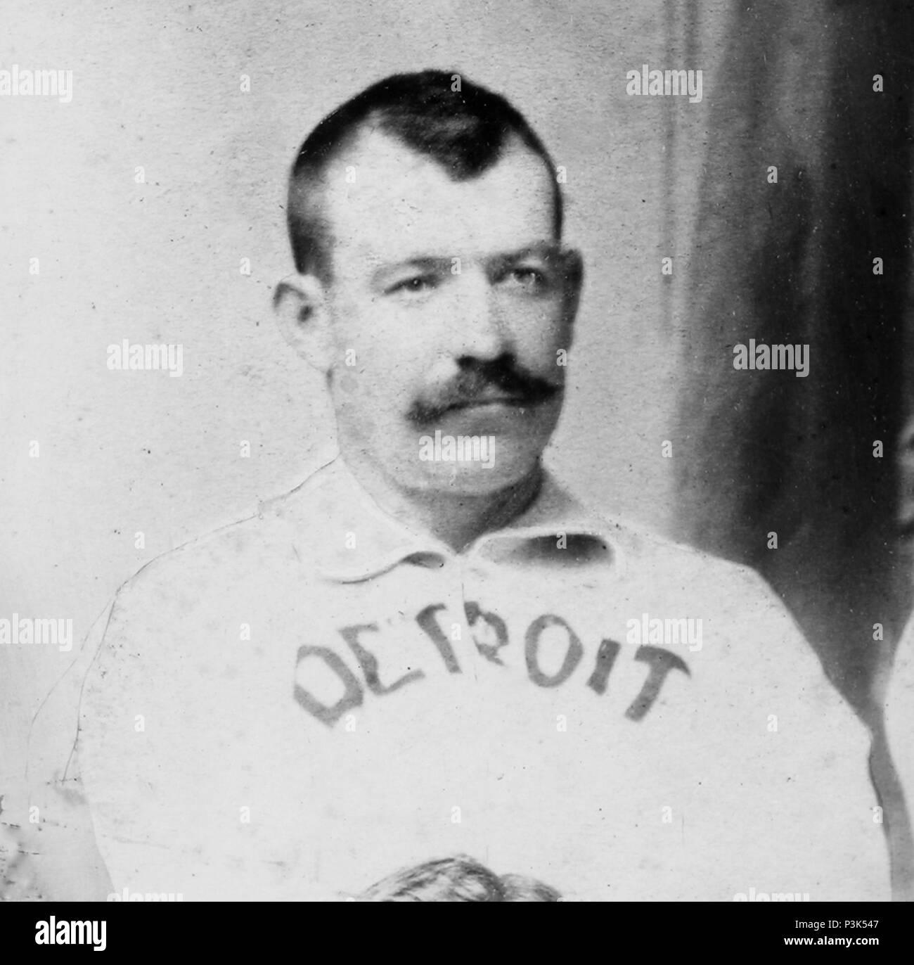 Dennis Joseph 'Dan' Brouthers (1858 – 1932) American first baseman in Major League Baseball - Stock Image
