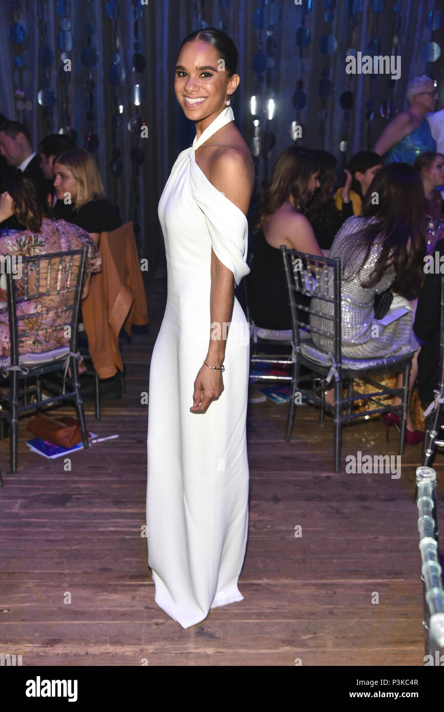 American Ballet dancer Misty Copeland attend the Breast Cancer Hot Pink Gala in NYC  Featuring: Misty Copeland Where: Manhattan, New York, United States When: 18 May 2018 Credit: Rob Rich/WENN.com - Stock Image