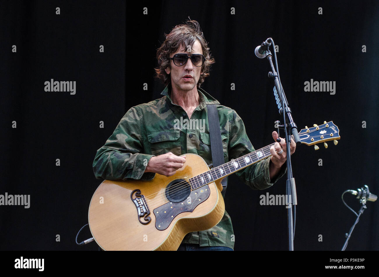 Richard Ashcroft The Verve Performing Live Stock Photo