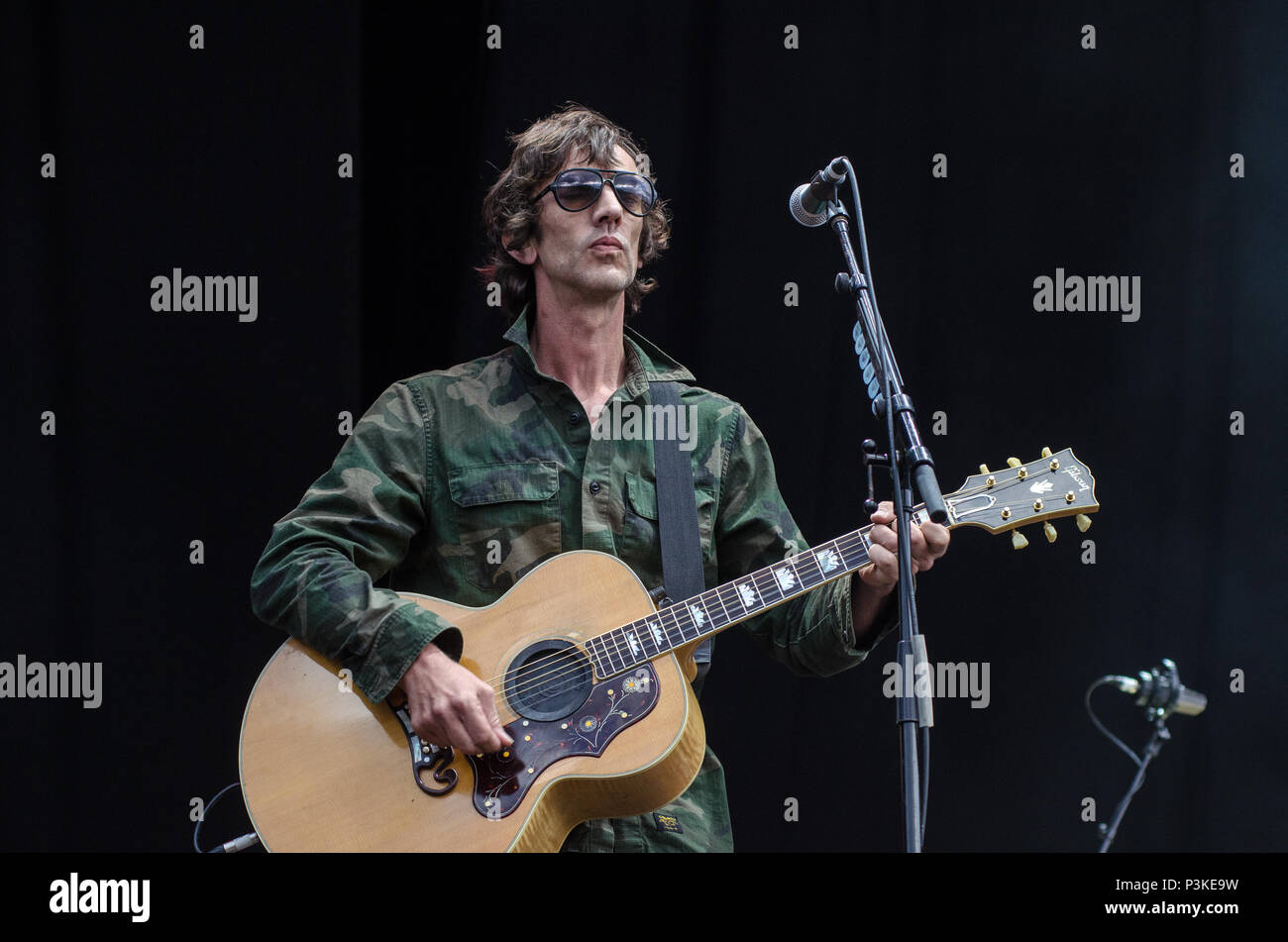 Richard Ashcroft The Verve Performing Live - Stock Image