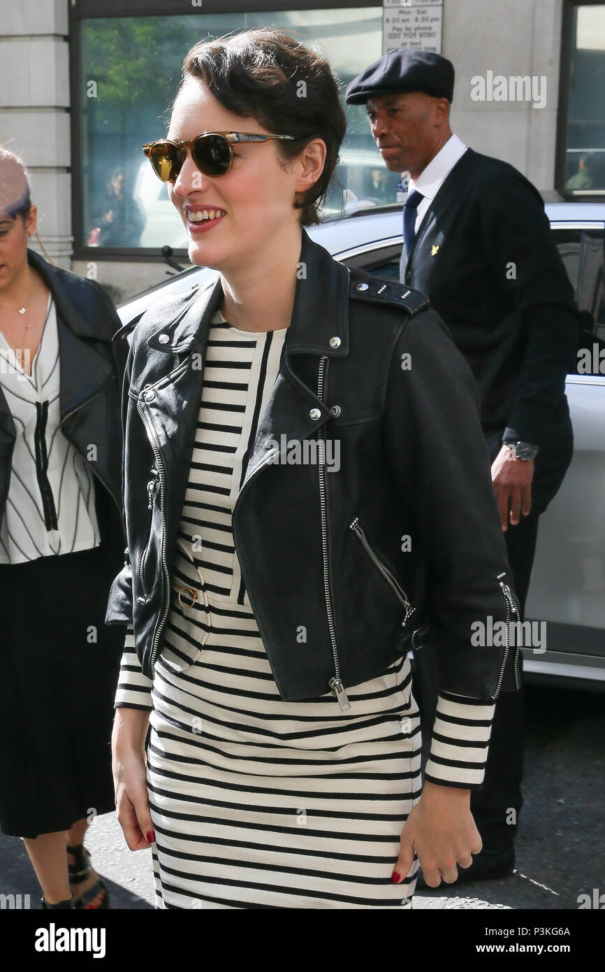 Phoebe Waller-Bridge arriving to promote the new Star Wars Solo film at BBC Radio Two Studios - London  Featuring: Phoebe Waller-Bridge Where: London, United Kingdom When: 18 May 2018 Credit: WENN.com - Stock Image