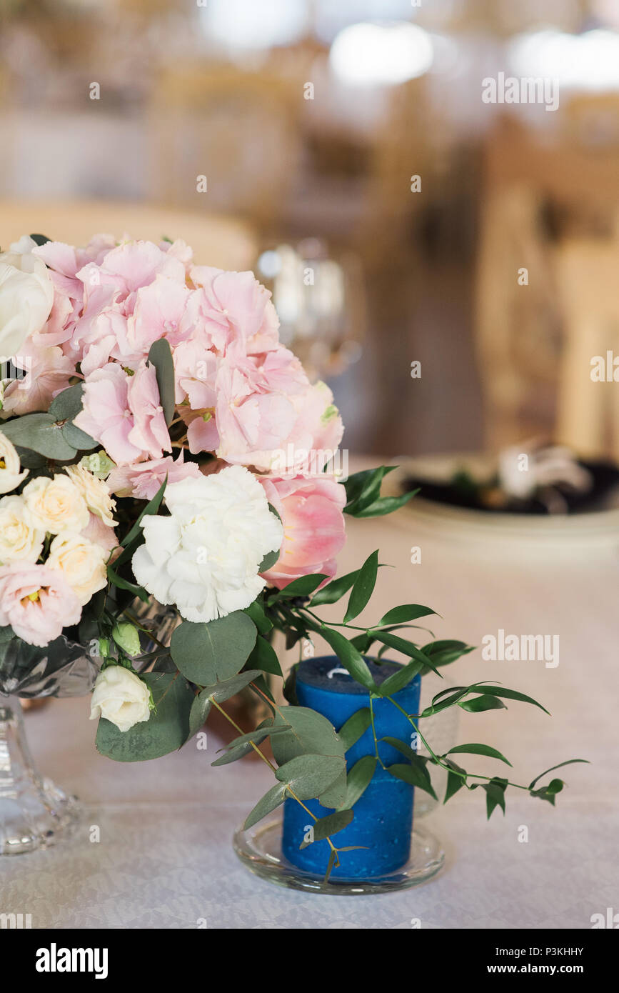 Beautiful Gentle Composition From Fresh Flowers Wedding Flowers