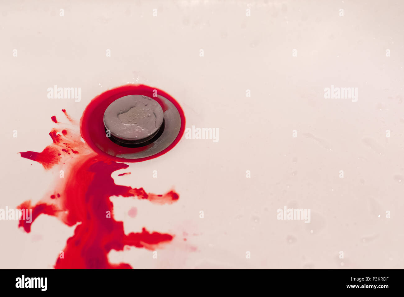 Blood sink stock photos blood sink stock images alamy for Bleeding when going to the bathroom