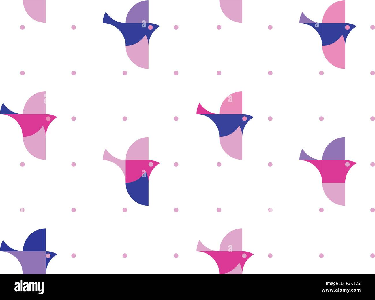 Nursery Childish Seamless Pattern Background With Flying Birds Decorativ Style Trendy Textile Wallpaper Wrapping Paper Kids Apparel Design Stock Vector Image Art Alamy