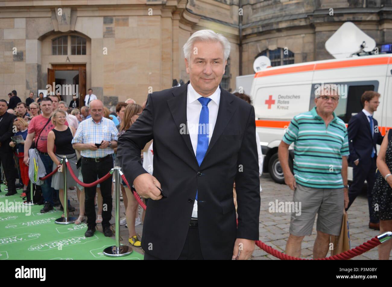 DRESDEN, GERMANY - JUNE 08: Klaus Wowereit during the Lambertz reception Stock Photo