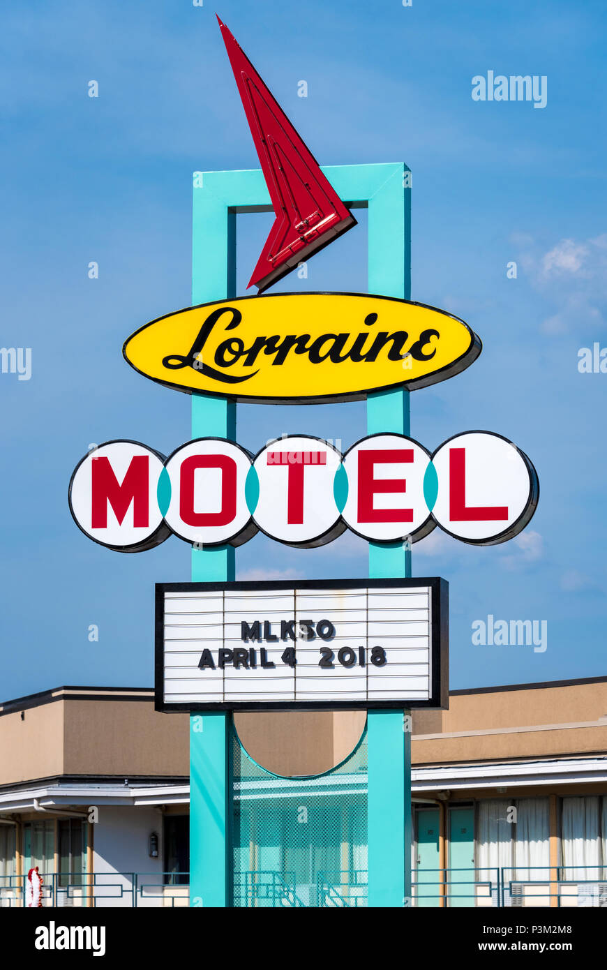 Lorraine Motel in Memphis, Tennessee, where Martin Luther King, Jr. was assassinated on April 4, 1968. (USA) Stock Photo
