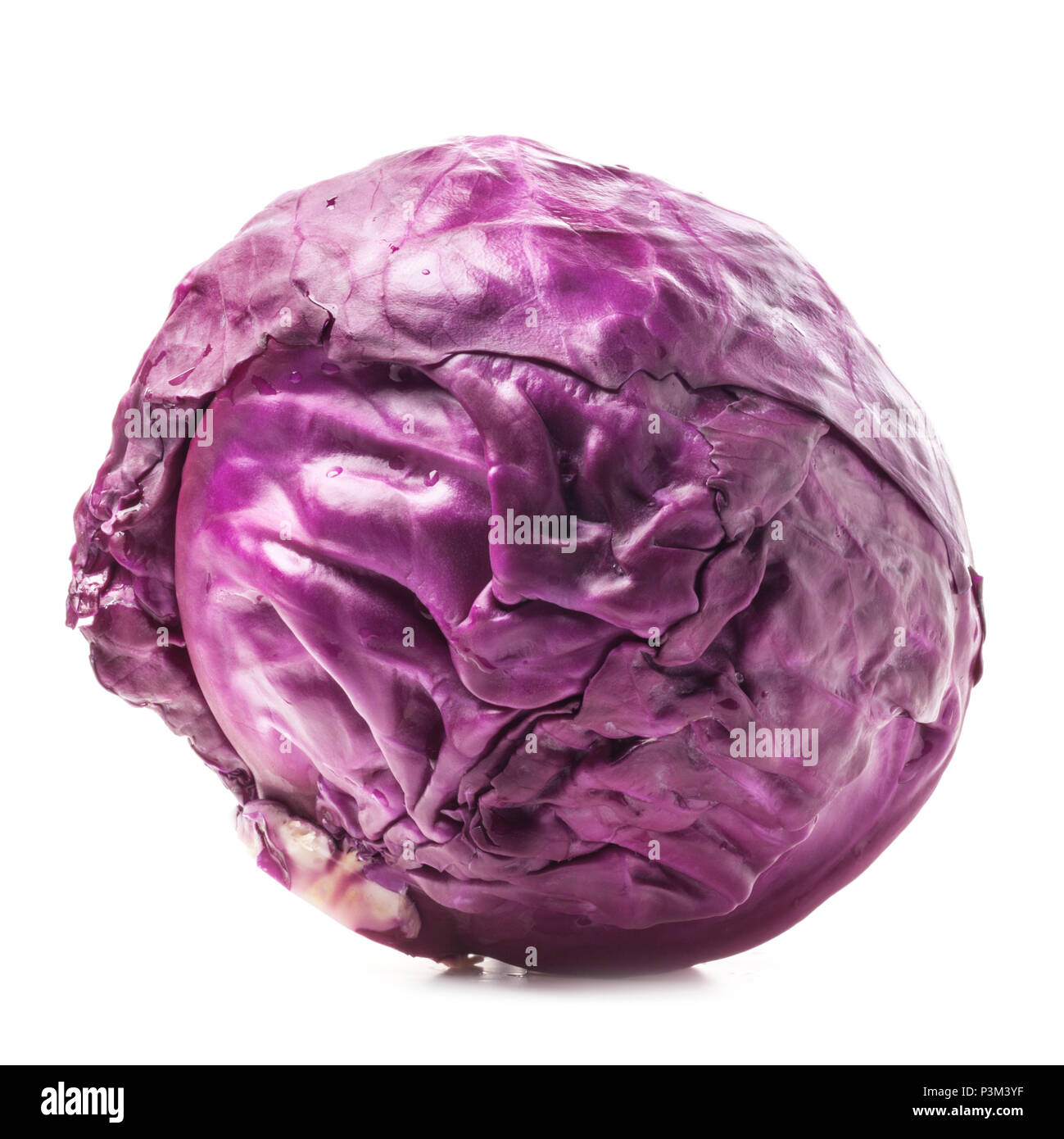 Fresh red cabbage isolated on white background Stock Photo