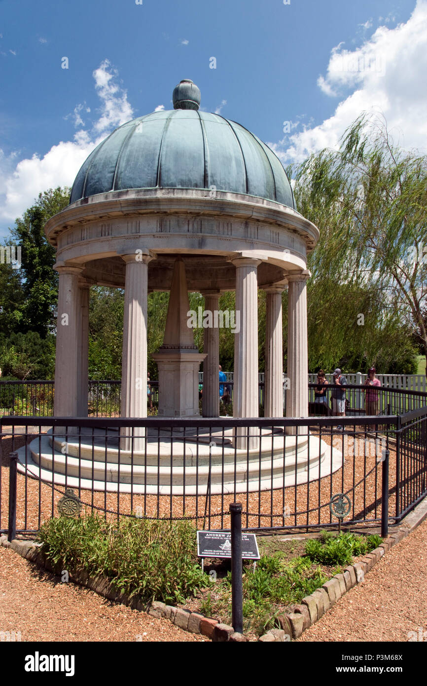 The Tomb Of President Andrew Jackson In The Hermitage Garden, Nashville,  Tennessee.