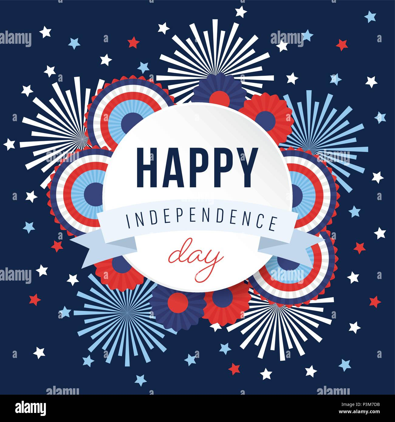 Happy Independence day, 4th July national holiday. Festive ...