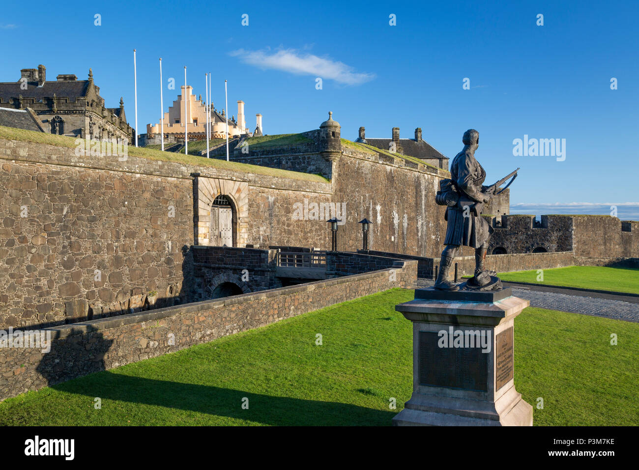 Memorial at Stirling Castle to Highland soldiers lost during South African (Boer) War (1899-1902), Stirling, Scotland, UK Stock Photo