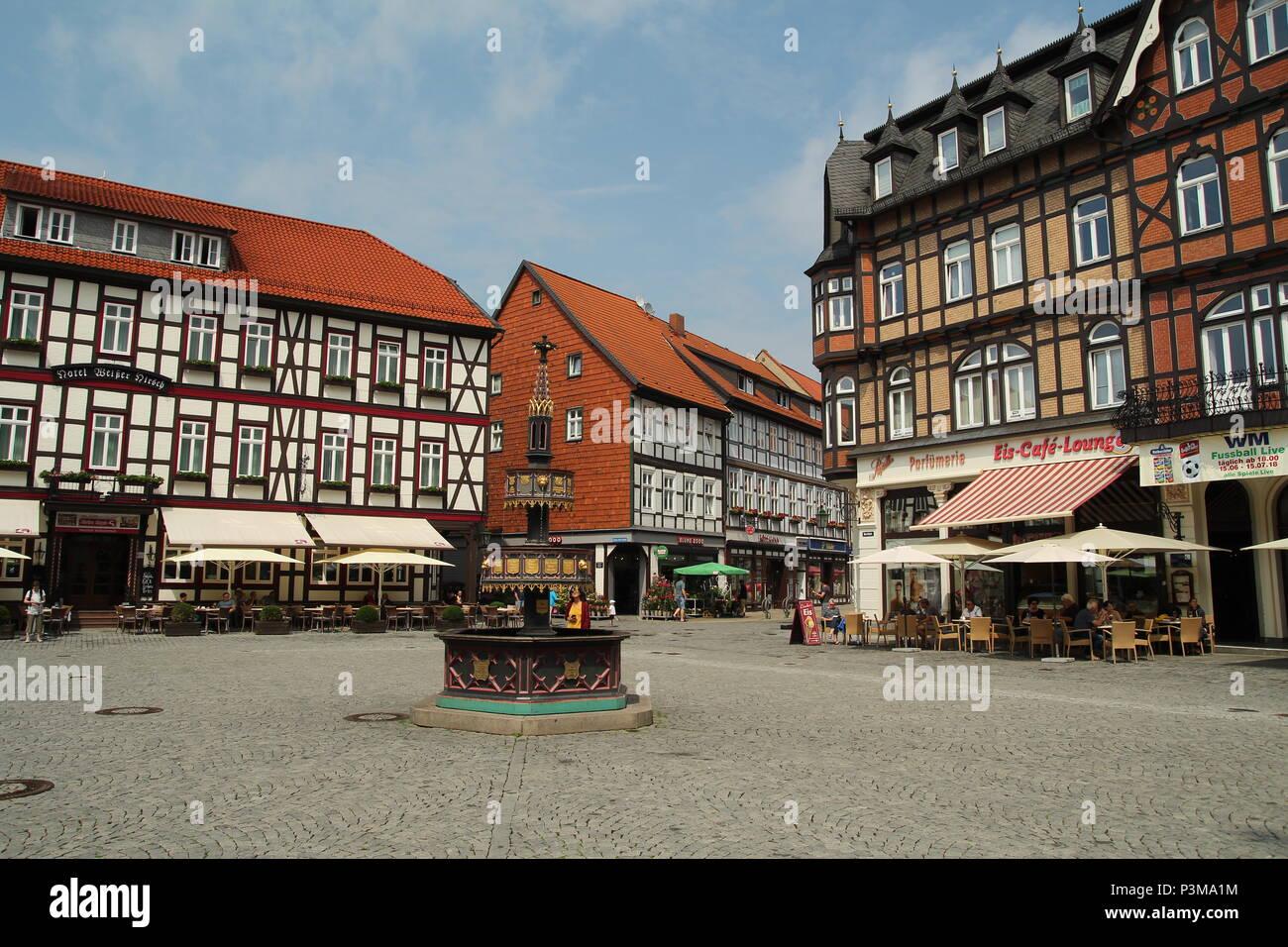 Wernigerode Half-Timbered Houses. Fachwerk. - Stock Image
