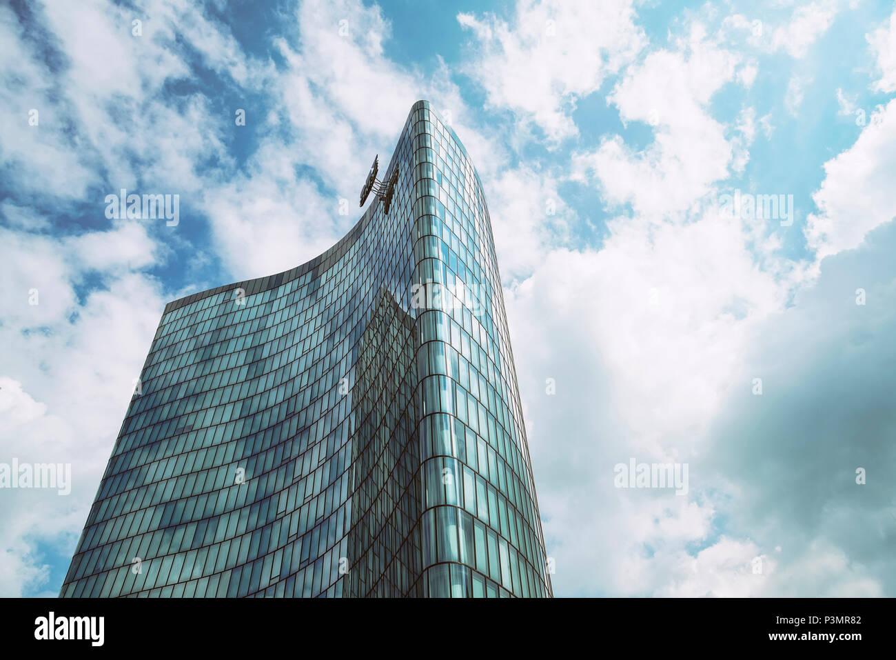 Hoch Zwei skyscraper, Vienna, Austria - Stock Image