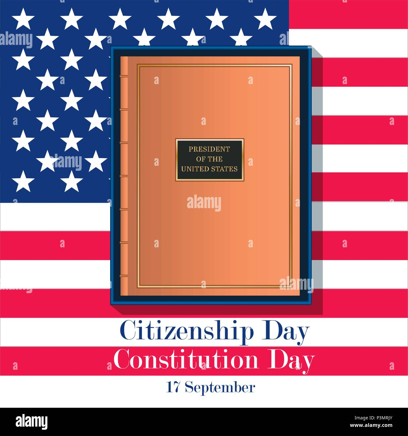 17th September American Citizenship Day Poster Design template - Stock Image