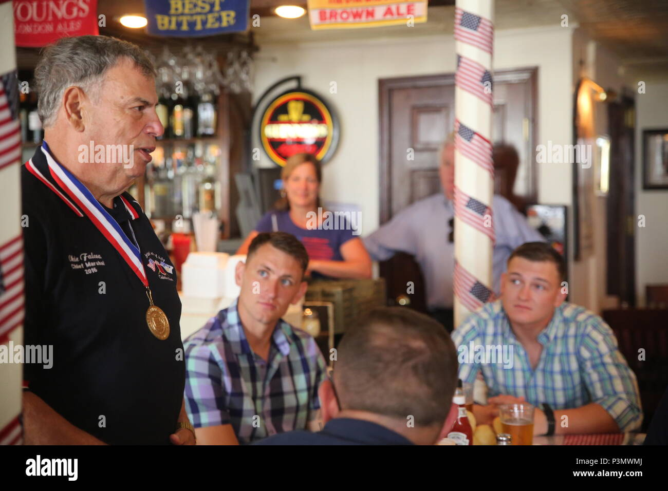Okie falcoa chief marshal of the bristol fourth of july parade okie falcoa chief marshal of the bristol fourth of july parade welcomes marines and sailors during a pub luncheon in bristol rhode island july 2 2016 m4hsunfo