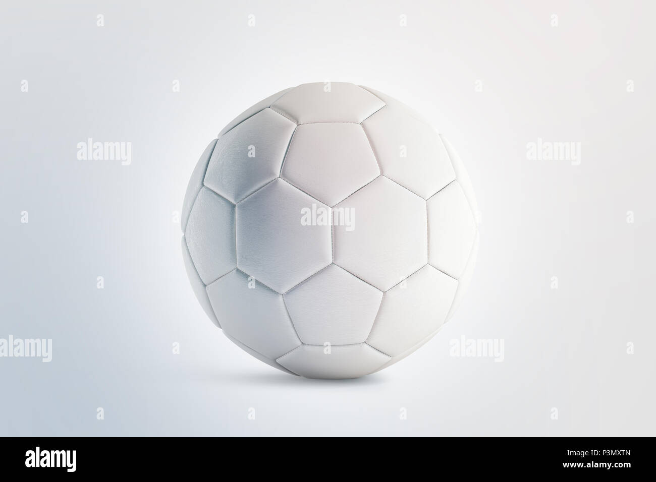 Blank White Soccer Ball Mock Up Front View 3d Rendering Empty Football Sphere Mockup Isolated Clear Sport Bal For Playing On The Clean Field Template
