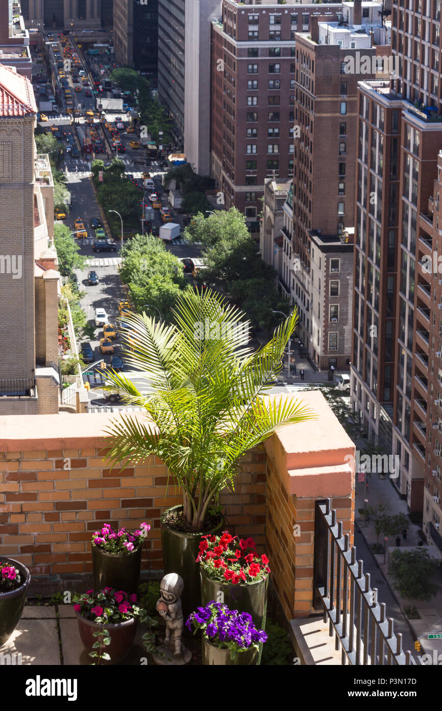 Rooftop Garden In Midtown Manhattan, NYC, USA