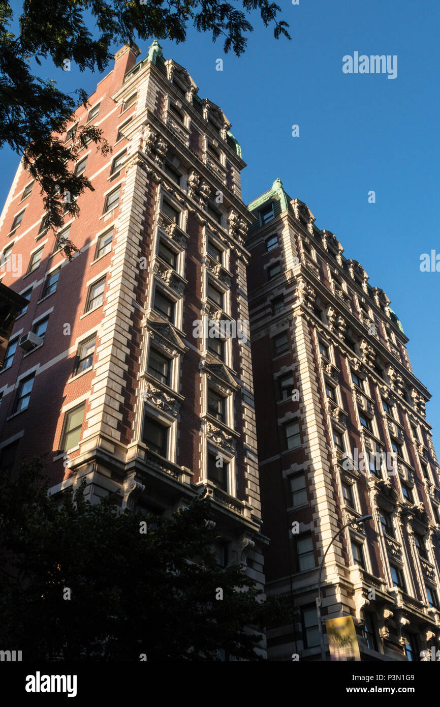 The Kenilworth Co-Op building in on Central Park West, NYC, USA - Stock Image