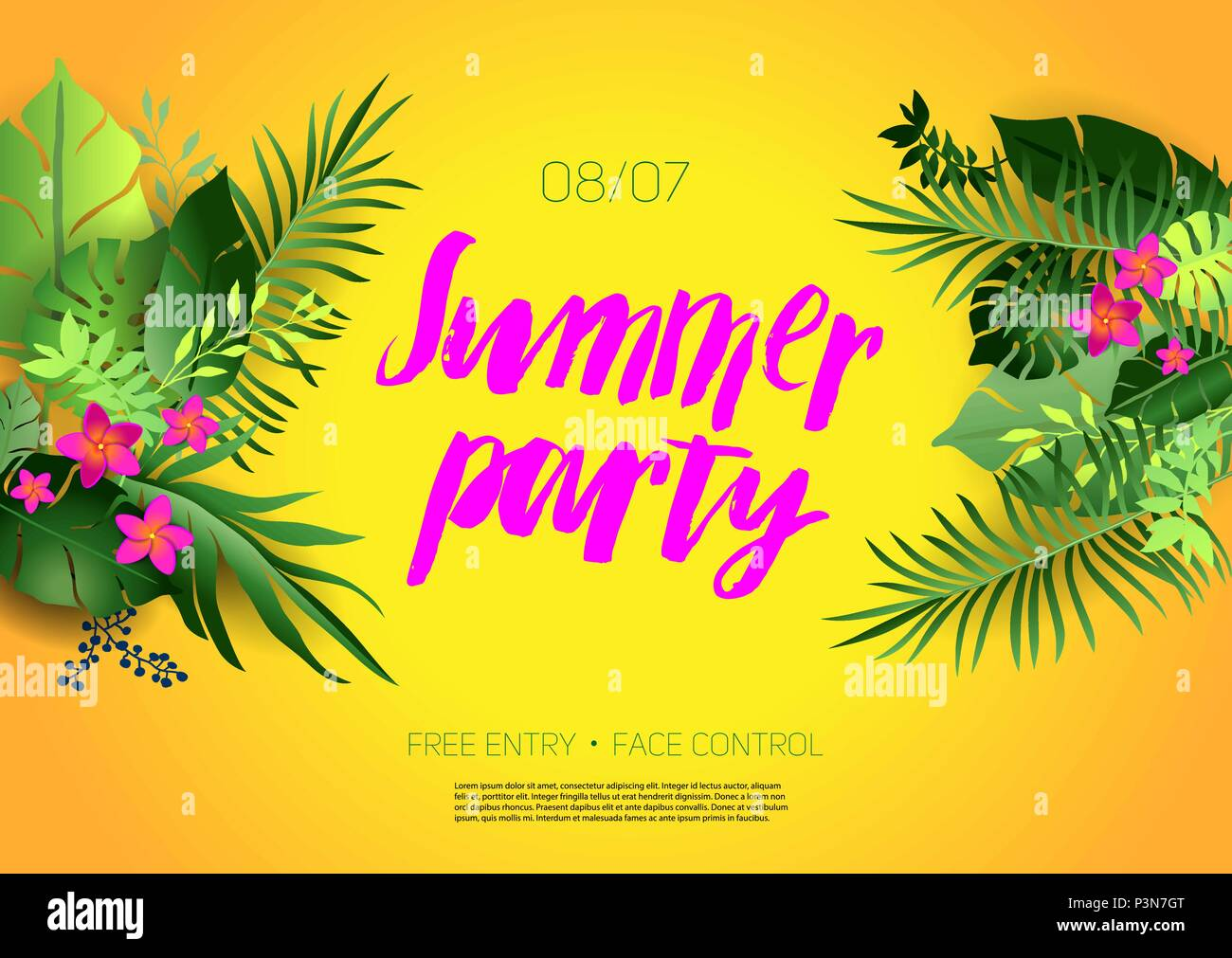 Hot summer poster - Stock Vector