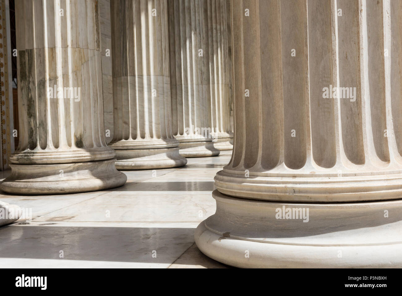 marble columns of academy of athens Stock Photo