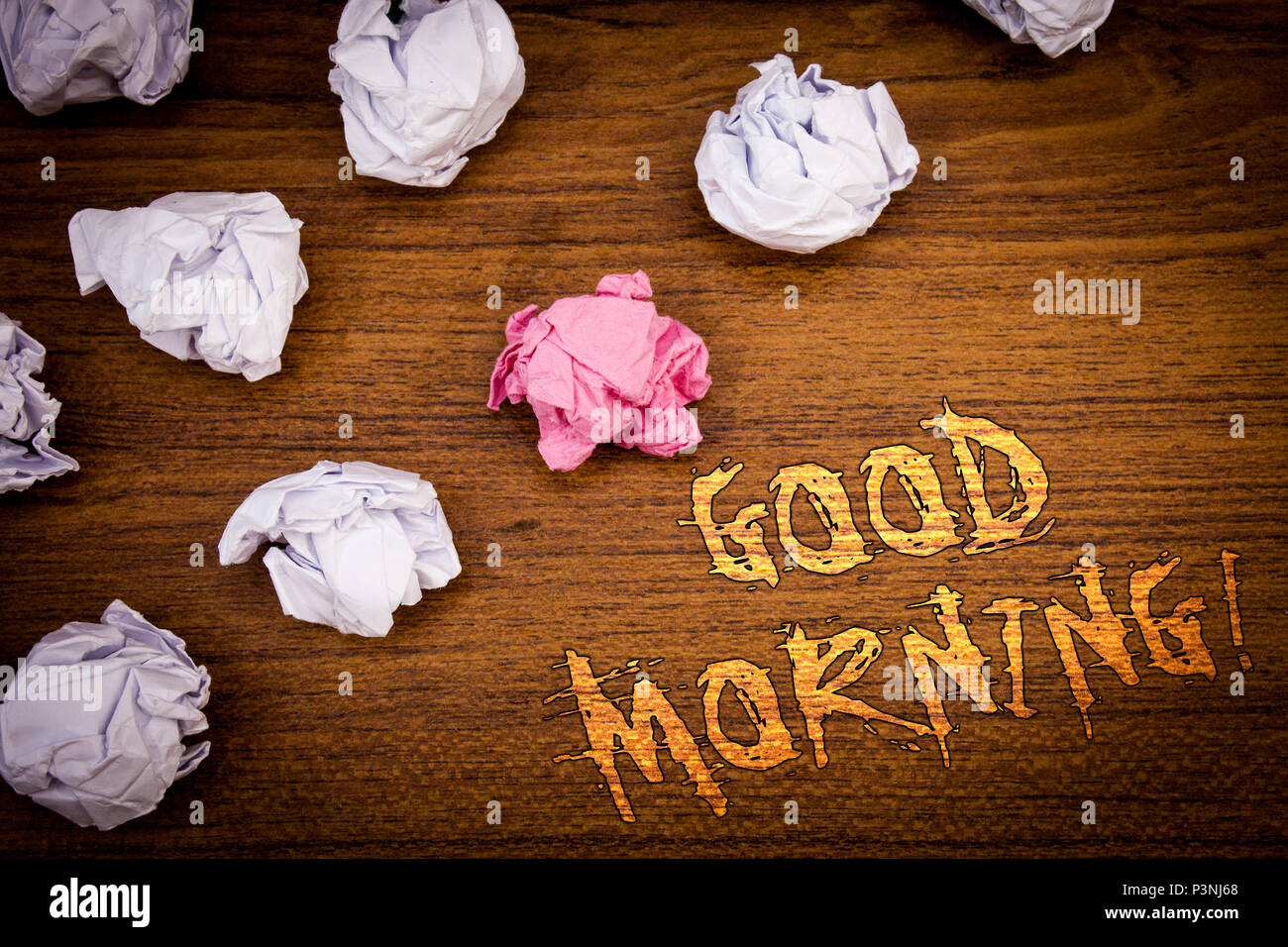 Words Writing Texts Good Morning Motivational Call Business Concept