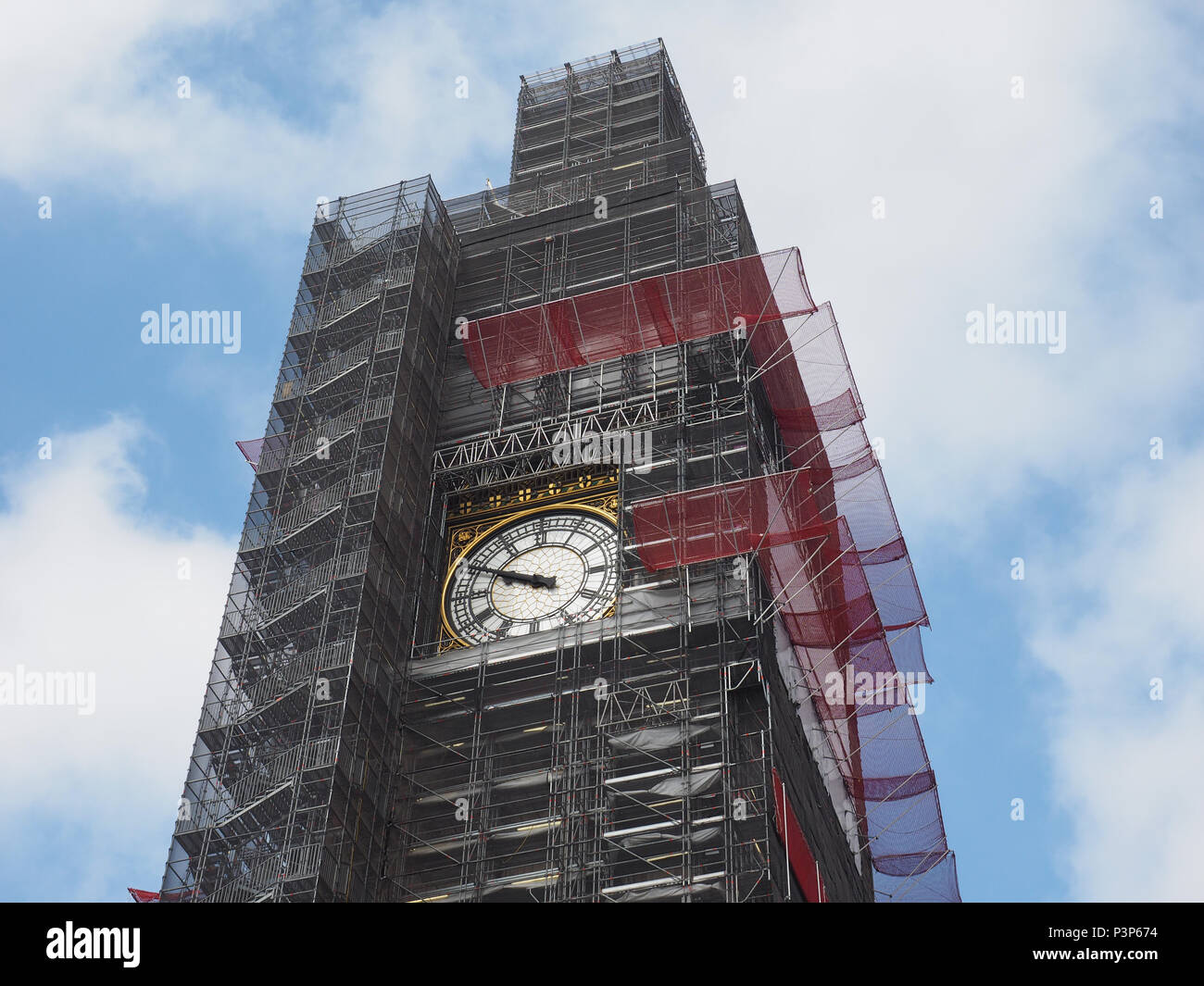 Big Ben Conservation Works At The Houses Of Parliament Aka Westminster Palace In London Uk Stock Photo Alamy
