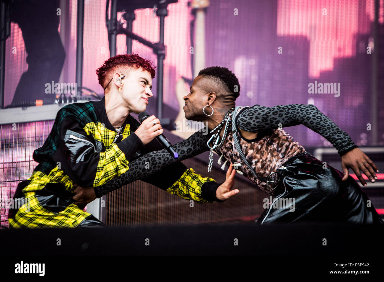 Landgraaf, Netherlands 17th june 2018 Years & Years perform live at Pinkpop Festival 2018 © Roberto Finizio/ Alamy Live News - Stock Image