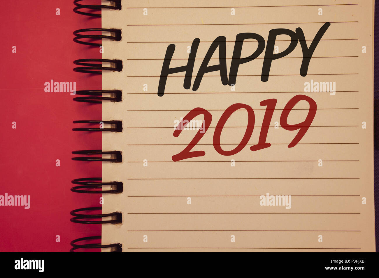 Writing note showing Happy 2019. Business photo showcasing New Year ...