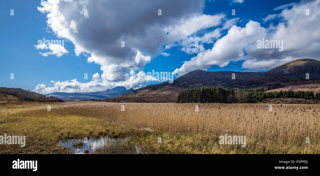 Beautiful Loch Cill Chriosd on the Isle of Skye near Elgol in the Highlands of Scotland - Stock Image