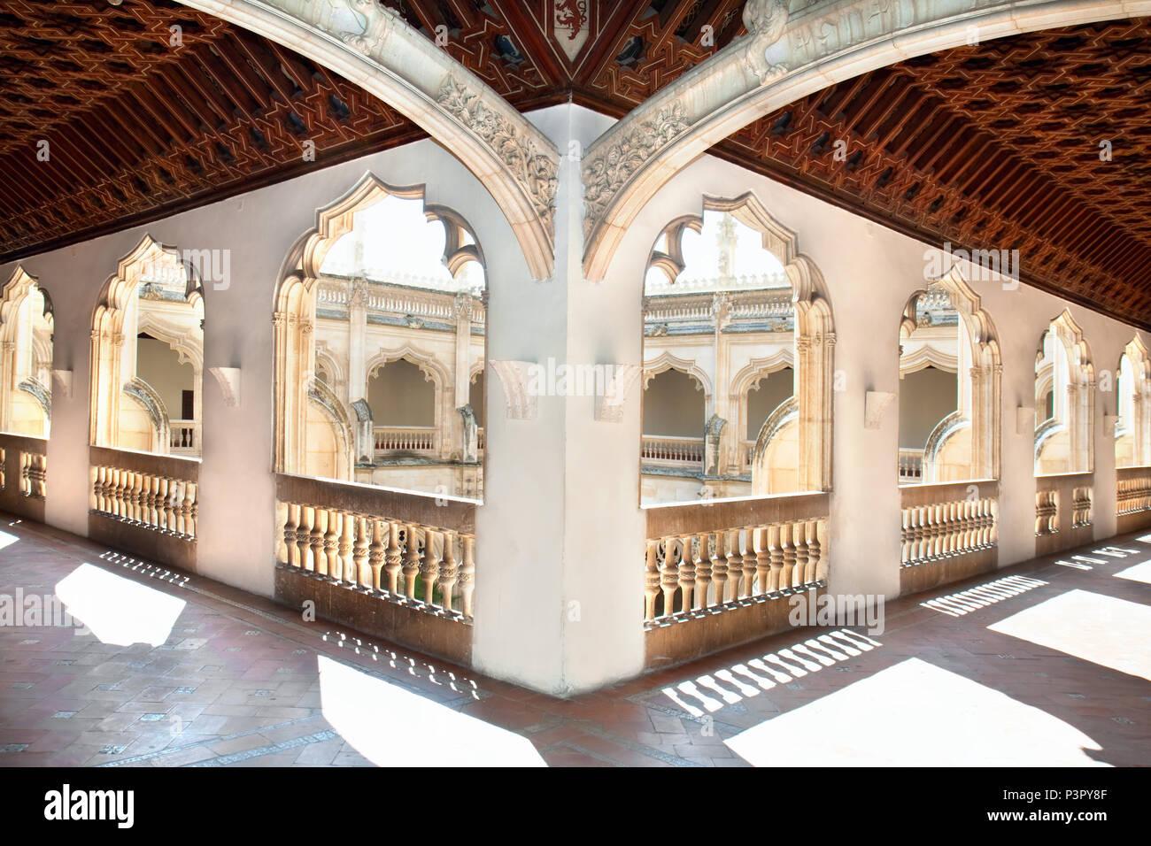Hols of Claustro de Saint Juan de los Reyes in Toledo, Spain - Stock Image