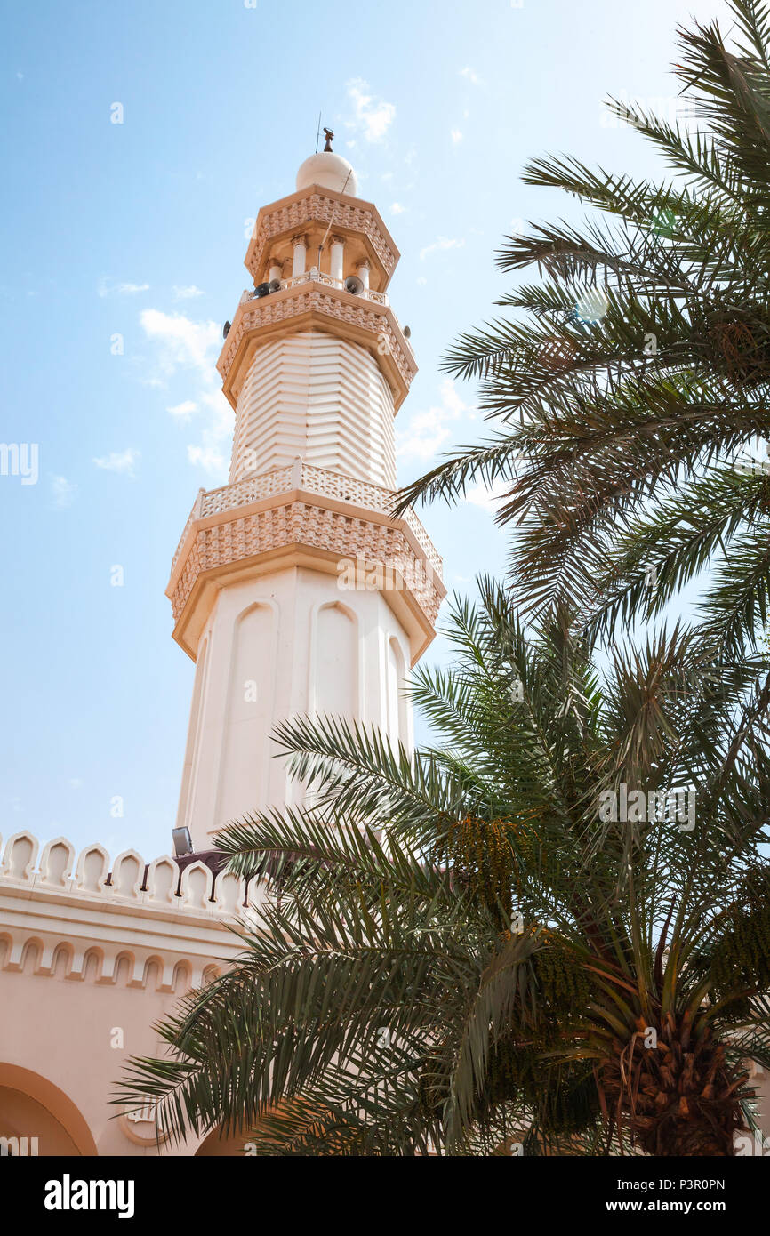 Minaret of Sharif Hussein Bin Ali in Aqaba city, Hashemite Kingdom of Jordan - Stock Image
