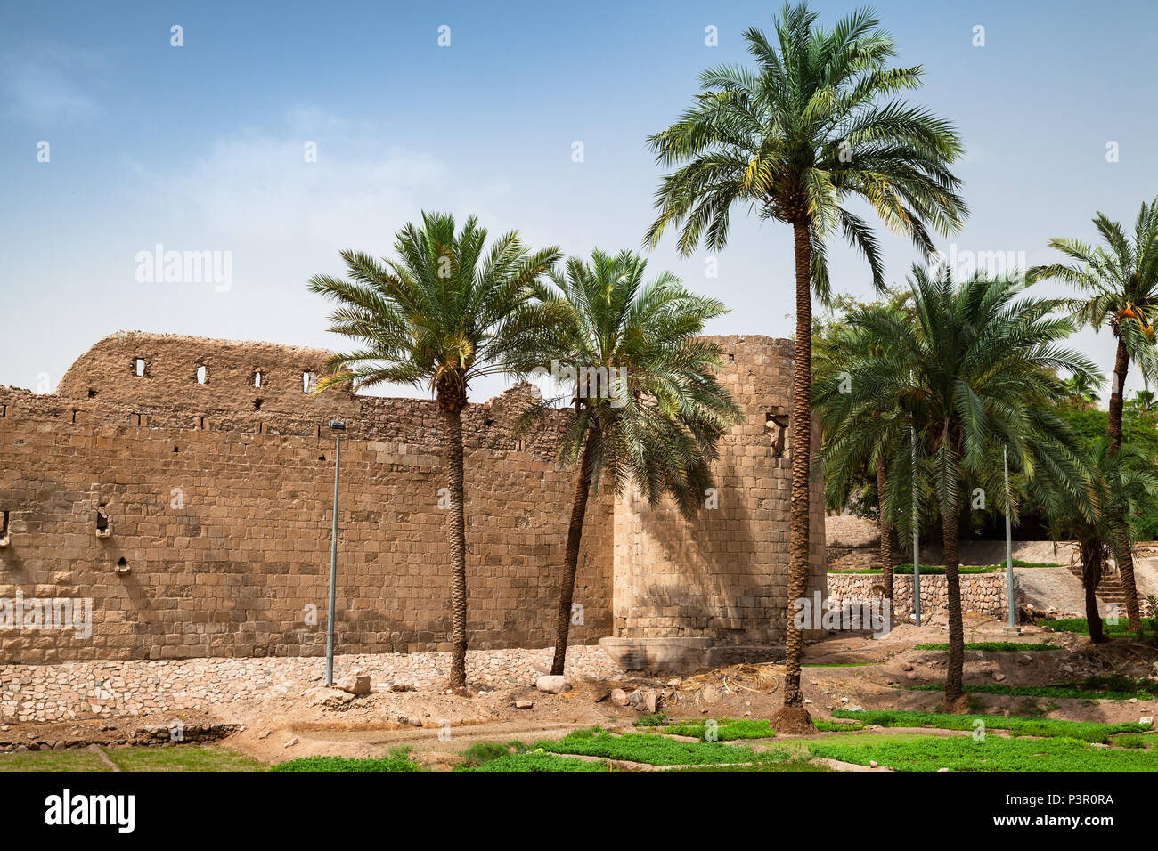 Aqaba Fortress, Mamluk Castle or Aqaba Fort located in Aqaba city, Jordan - Stock Image