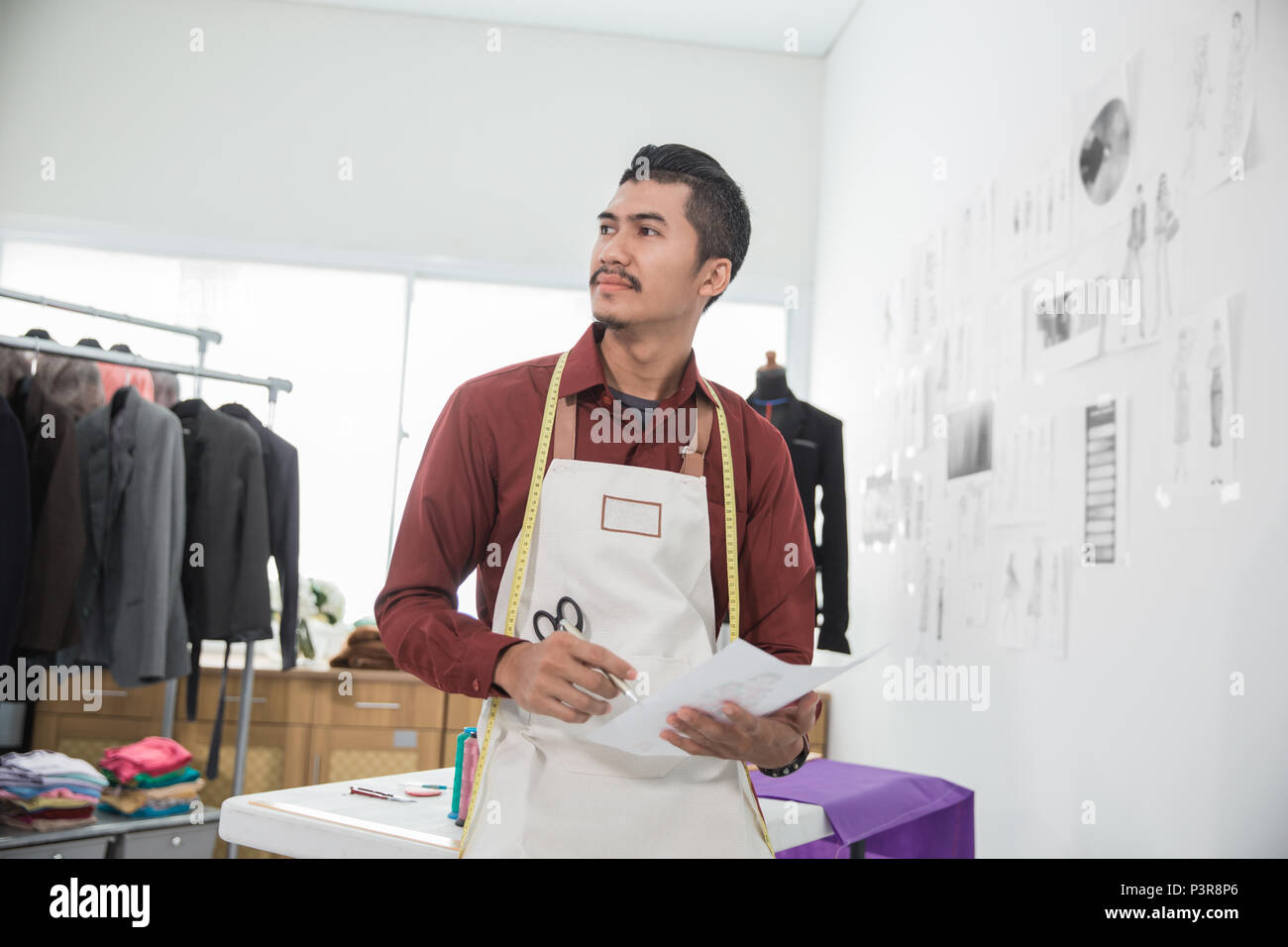 Asian Clothing Designers   Asian Male Fashion Designer Stock Photo 208880174 Alamy