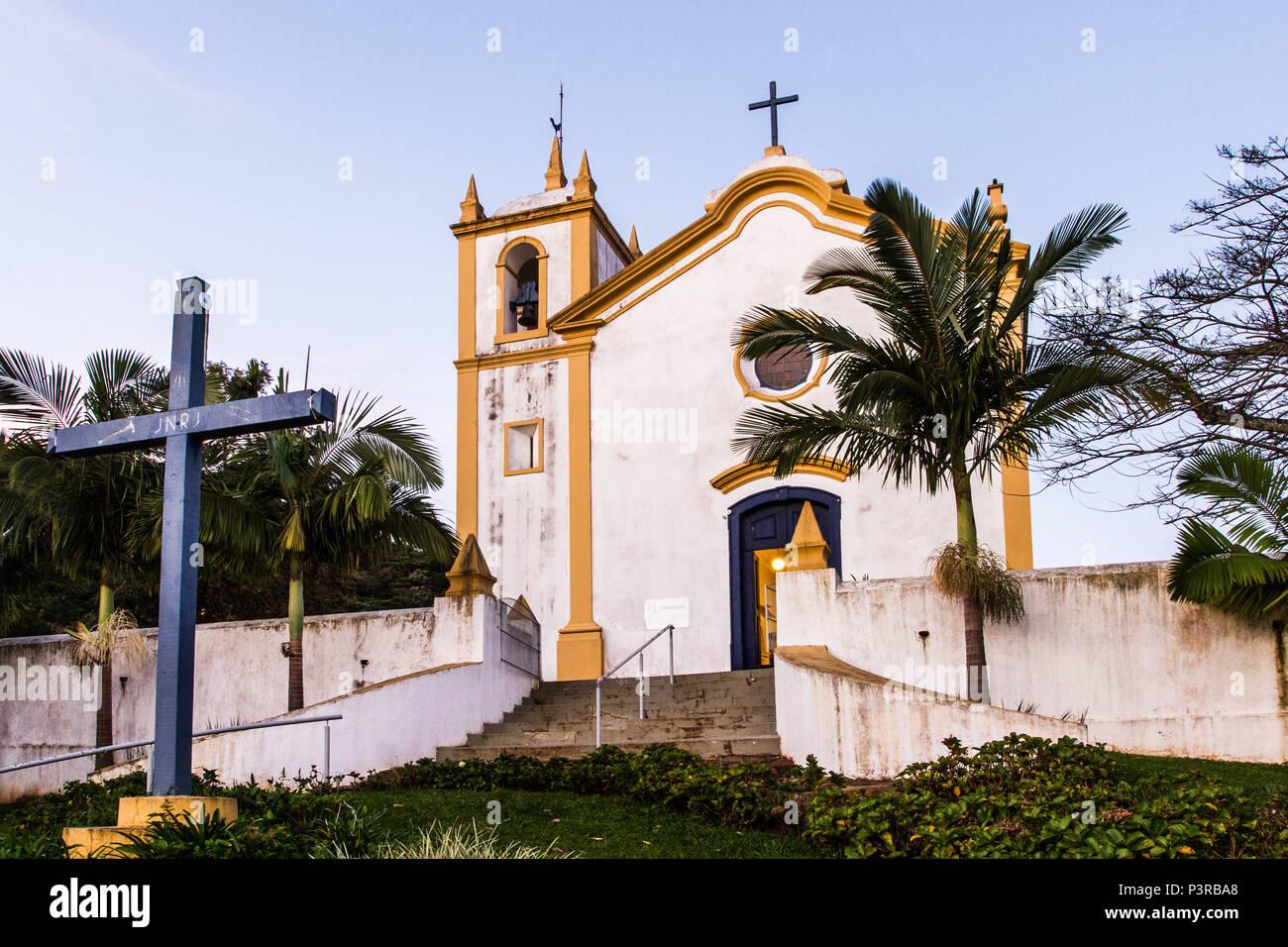 FLORIANÓPOLIS, SC - 27.06.2015: ARQUITETURA COLONIAL - Igreja Nossa Senhora da Imaculada Conceição, na Lagoa da Conceição, construída em 1751. (Foto: Ricardo Ribas / Fotoarena) Stock Photo