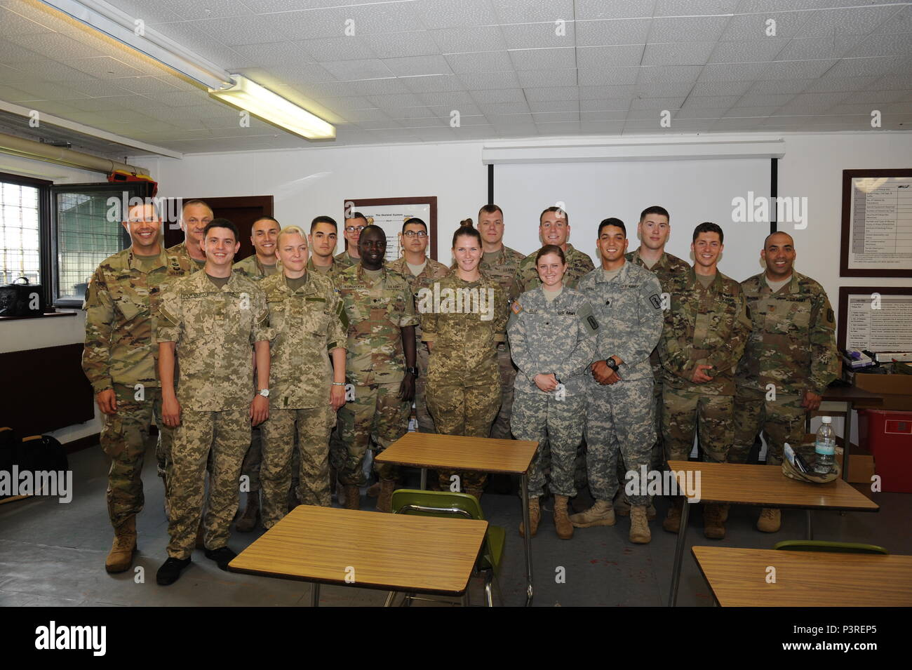A Group Photo Of The Officers Instructors And Attendees From Landstuhl Regional Medical Center And 557th Medical Company Area Support With Ukraine Military Medical Officers Of The Medical Sustainment Class At The