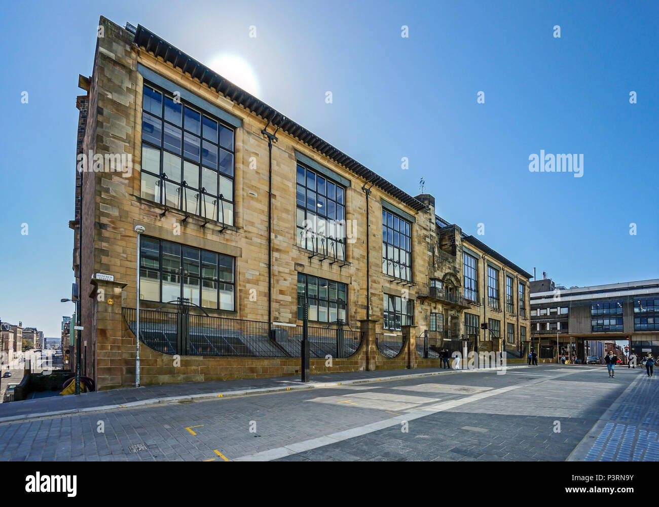 The original Charles Rennie Mackintosh designed building forming part of the Glasgow School of Art in Renfield Street Glasgow Scotland UK - Stock Image