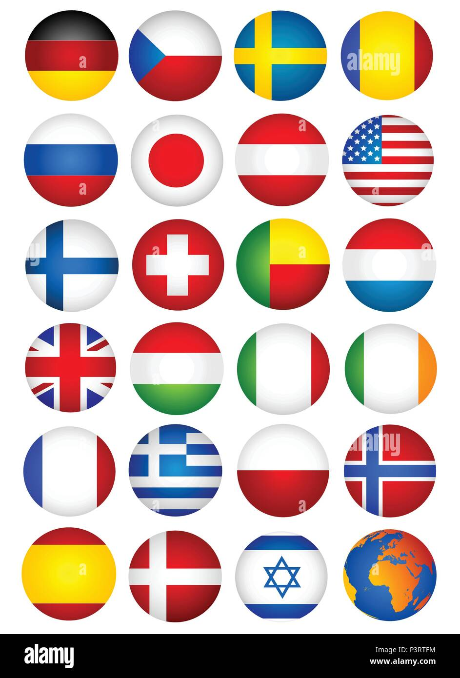 set country flag - Stock Vector