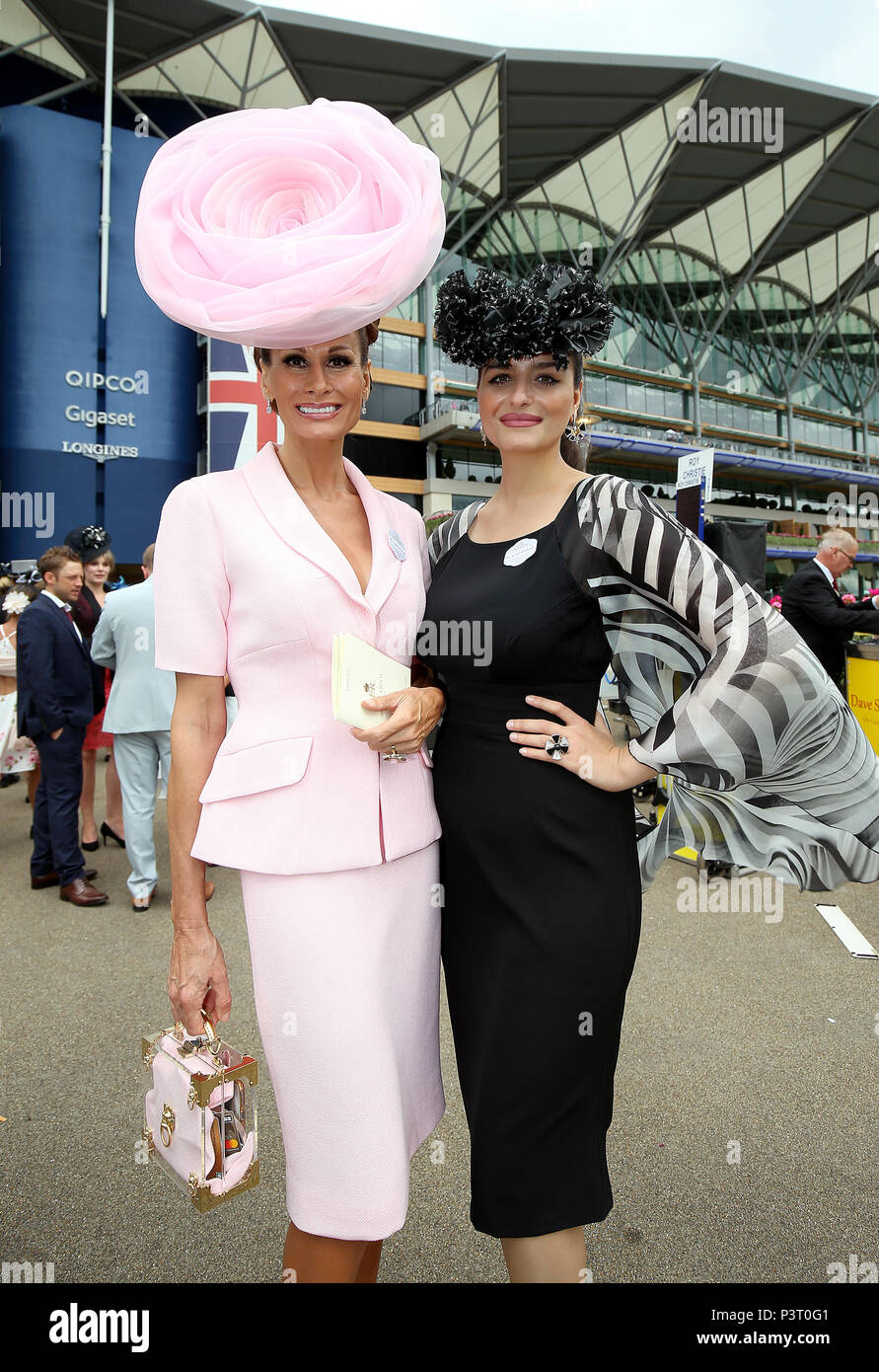 Isabell Kristensen (left) and Nicola Kristensen arriving during day one of Royal  Ascot at a5728cdc1025