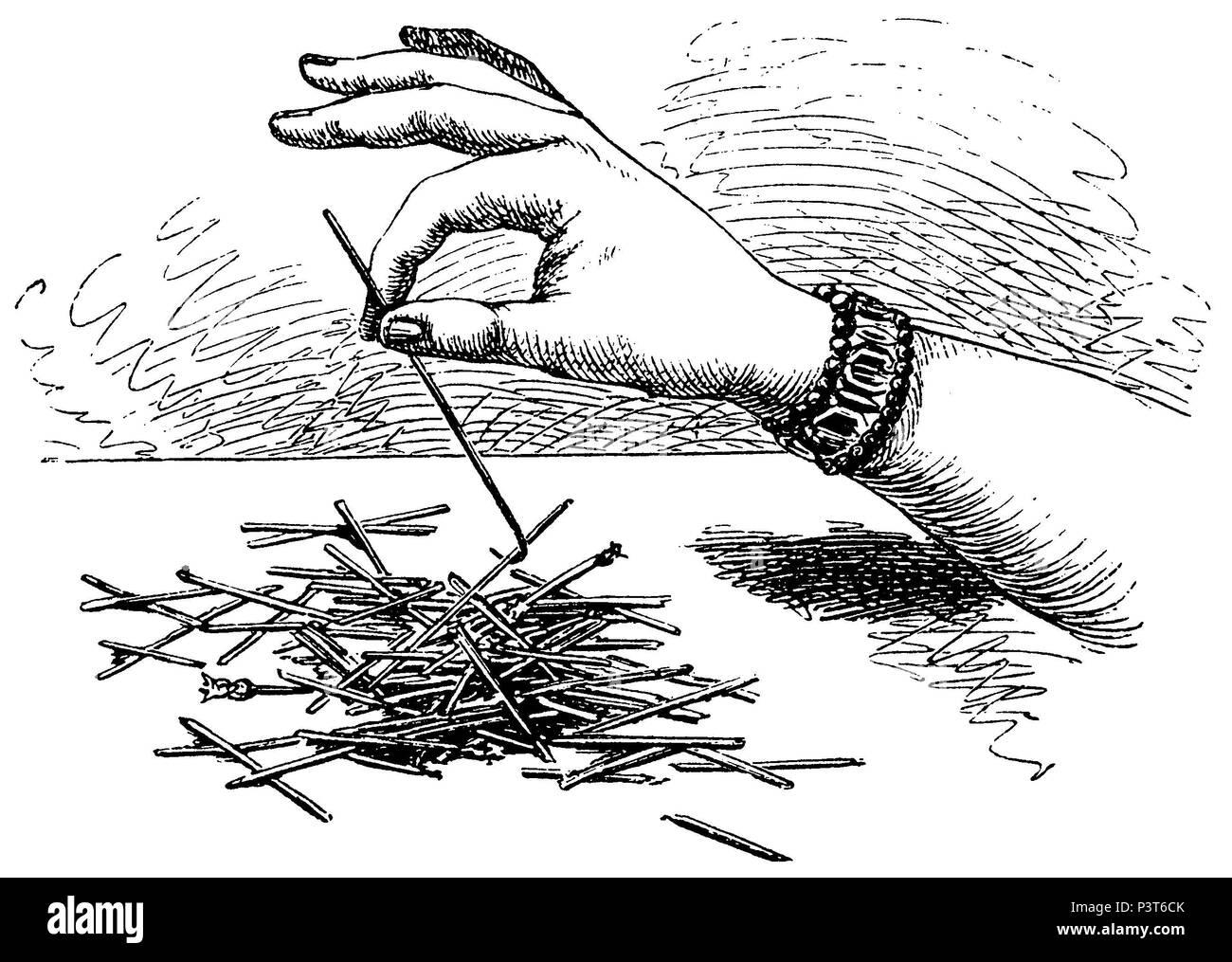 Mikado, hand, anonym  1879 Stock Photo