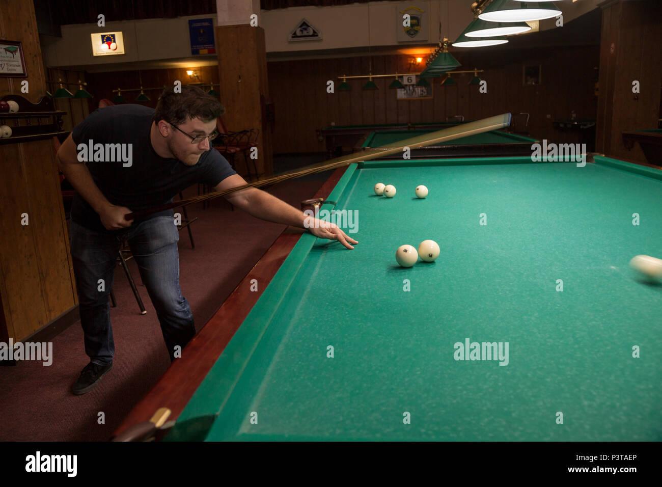 Moldova, Chisinau - Pool Billiards - Stock Image