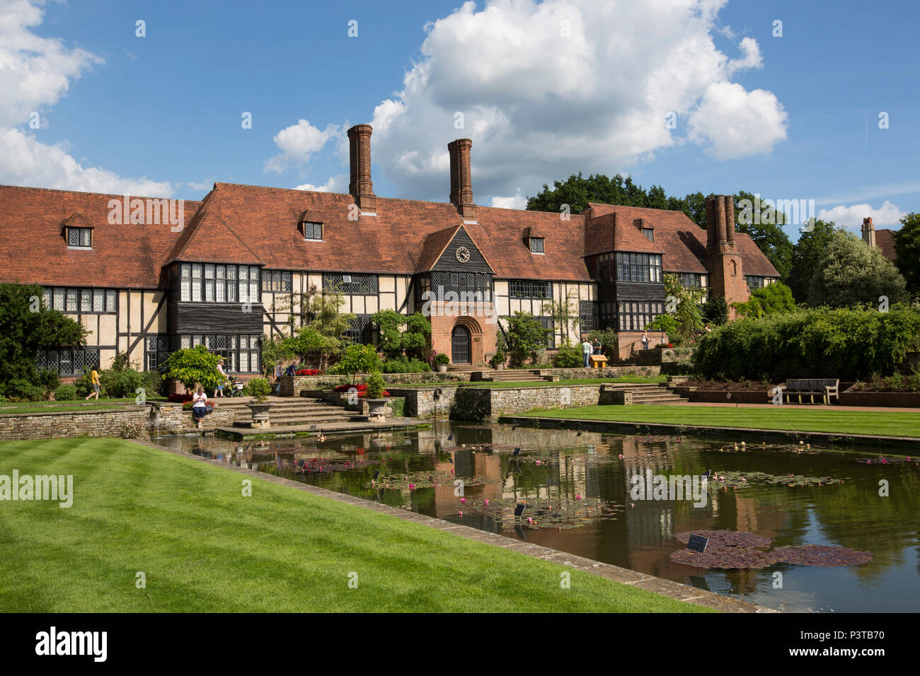 RHS Wisley Gardens, planted borders, luscious rose gardens and a state-of-the-art Glasshouse, horticultural gardens in Surrey, England, U - Stock Image