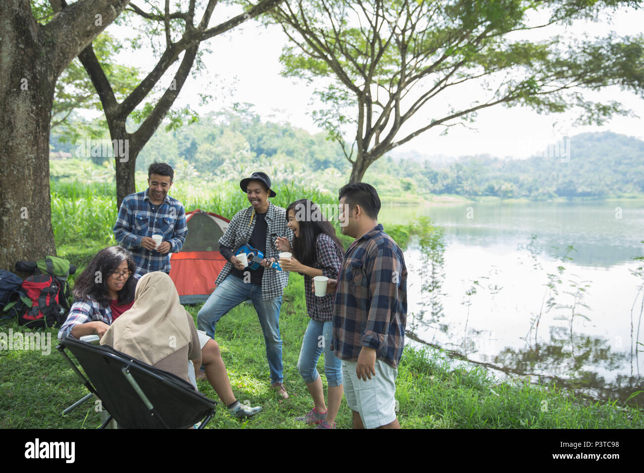 Friendship Hangout Traveling Destination  - Stock Image