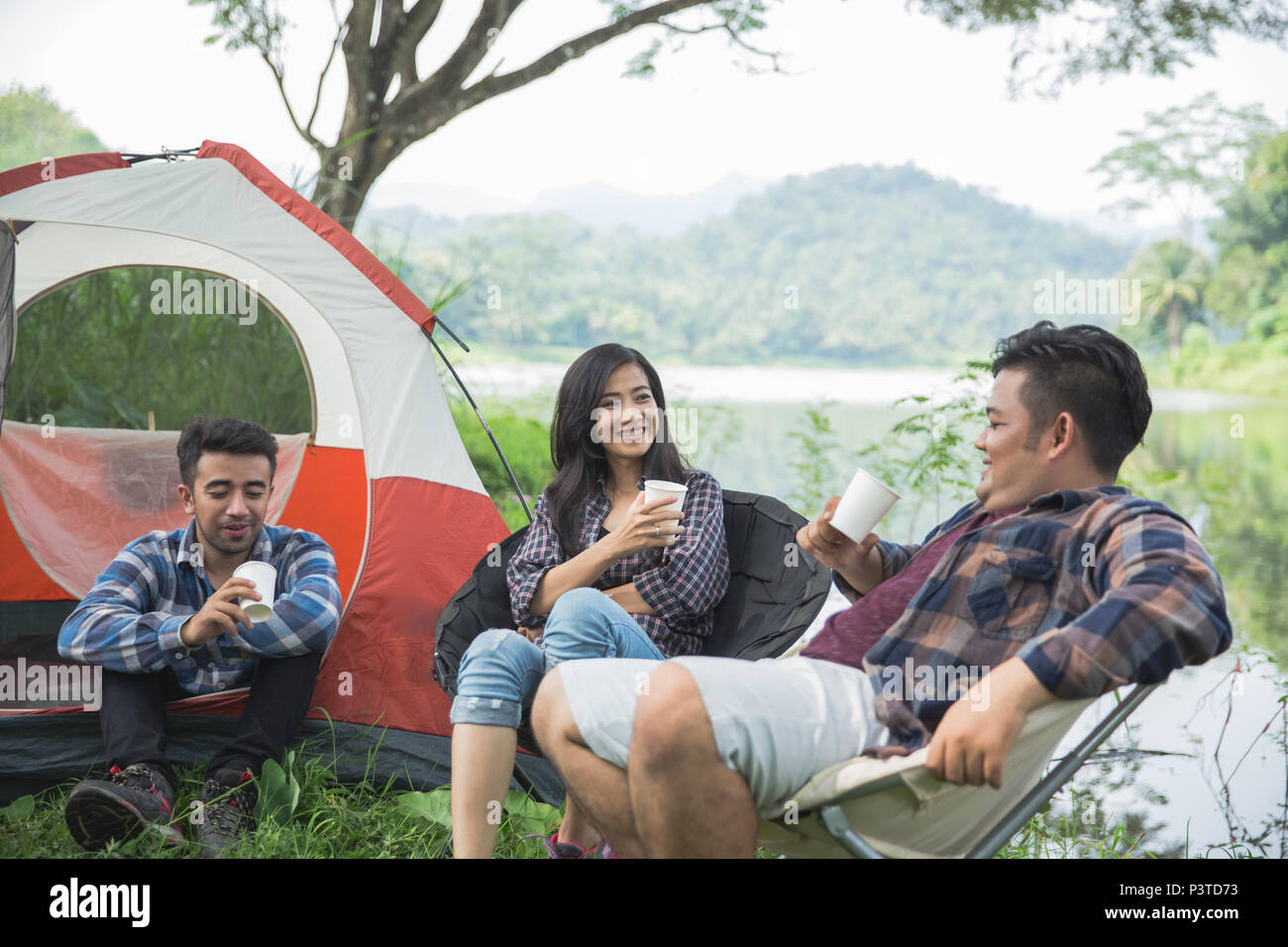 Friendship Hangout Traveling Destination  - Stock Image