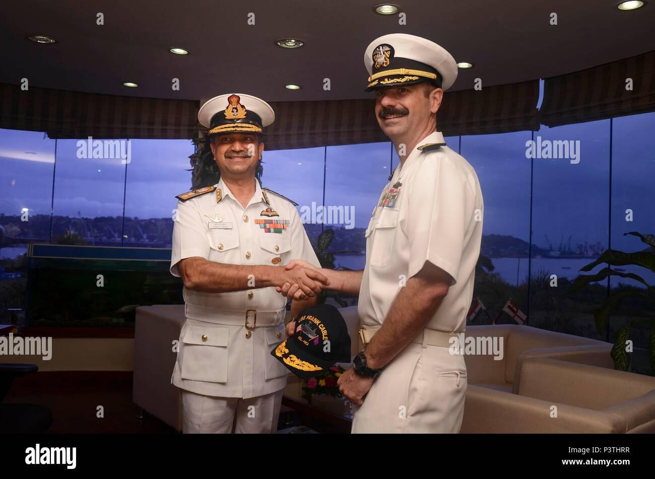 GOA, India (July 29, 2016) Capt  Drew St  John, commanding officer
