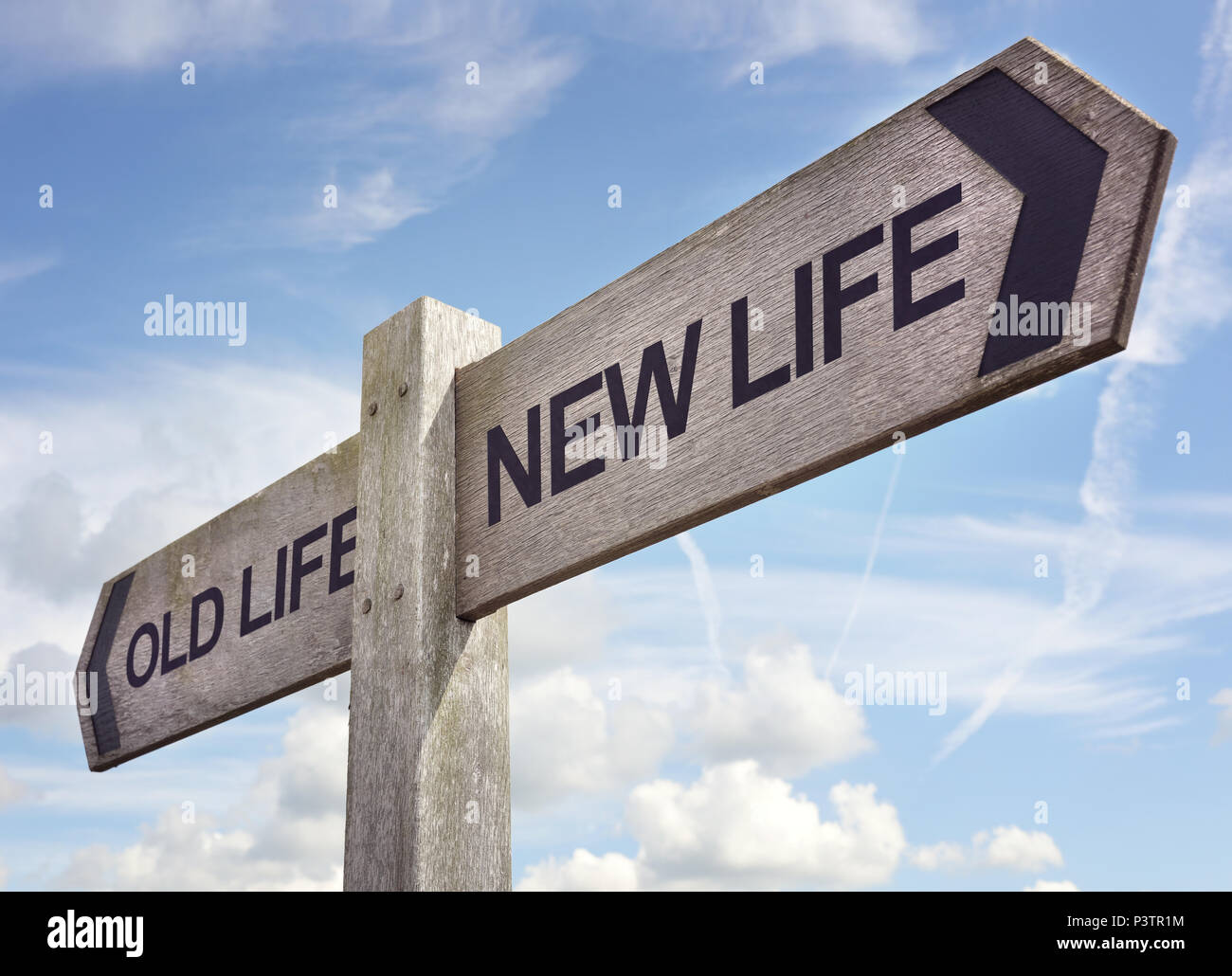New life concept for fresh start, new year resolution, dieting and healthy lifestyle - Stock Image
