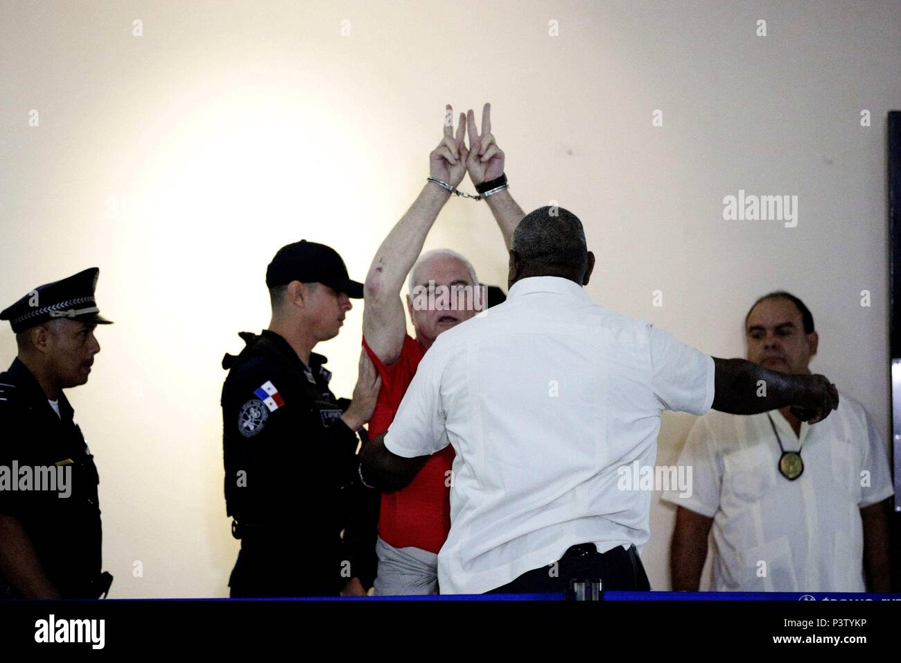 Former President of Panama, Ricardo Martinelli, is seen at his