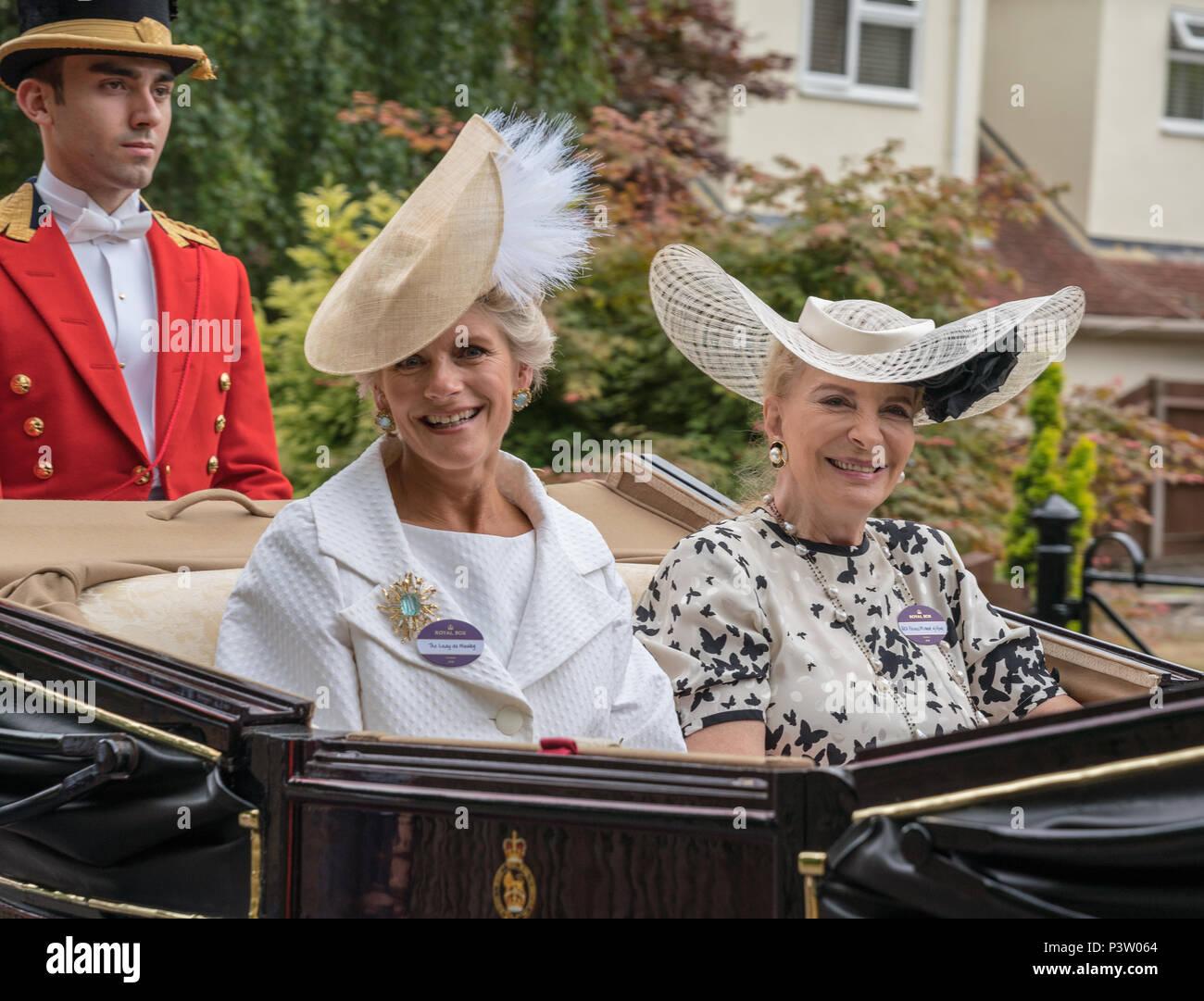 Royal Ascot, Berkshire, UK. 19th Jun, 2018. Royal Ascot Carriage Procession Credit: Chris Miller/Alamy Live News - Stock Image